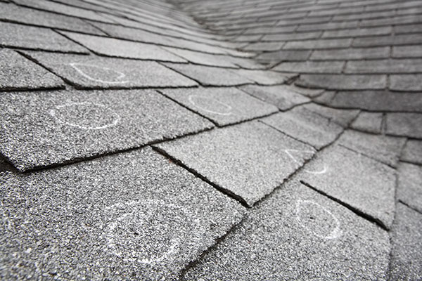 Shingle Roof Storm Damage